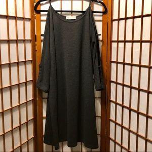 Hatch Gray Heather Cutout Long Sleeve Dress/Tunic